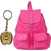 Beets Collection Student Shoulder Backpack for Women & Girls Bag (Pink)