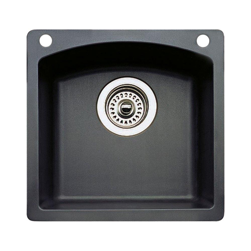 Blanco 440204-2 Diamond 2-Hole Single-Basin Drop-In Granite Bar Sink, Anthracite