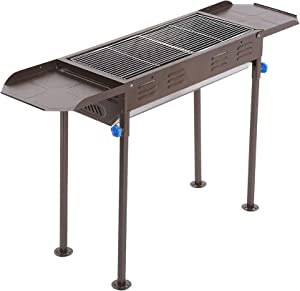 Charcoal Grill Portable BBQ Grill Large Charcoal Grill Folding Barbecue Grill Charcoal Shish Kebab Grill Stainless Steel Camping Grill for Outdoor Picnic, Patio, Backyard & Camping