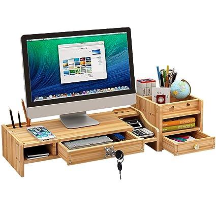 Organizador de escritorio y accesorios para monitor con armario ...