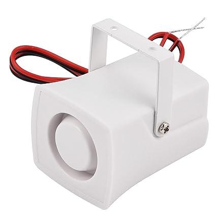 Richer-R Sirena con Cables,Mini Altavoz Alarma Antirrobo Cuerno Pequeño Zumbador para Sistema de Alarma de Seguridad del Hogar(120 dB )