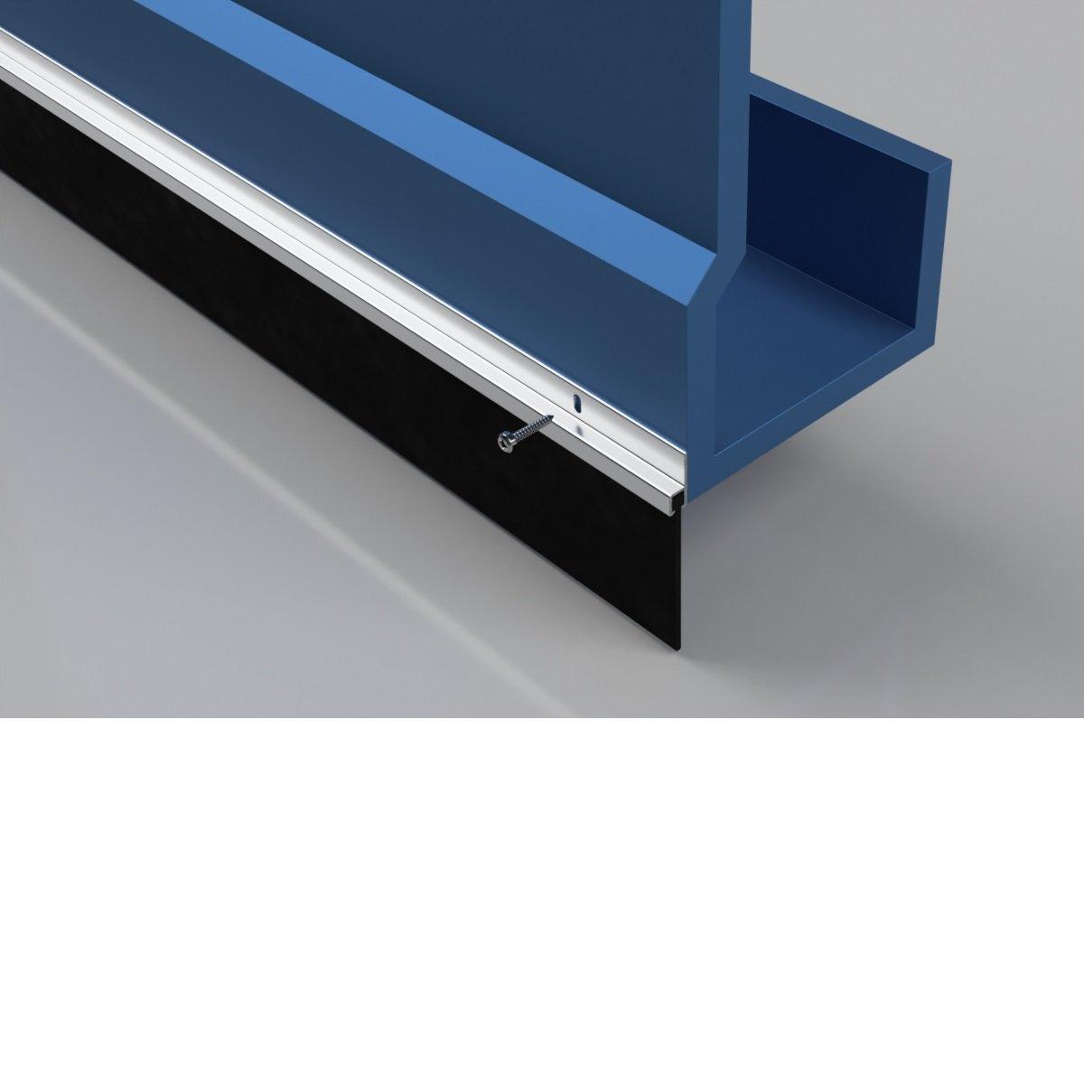 Stormguard 03SR3312134/A garage porta gomma paraspifferi Seal 2134/mm in alluminio