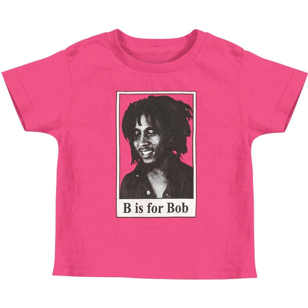 Bob Marley B Is For Bob Childrens T Shirt Pink 4989