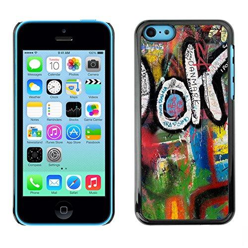 Premio Sottile Slim Cassa Custodia Case Cover Shell // V00002347 Graffiti // Apple iPhone 5C