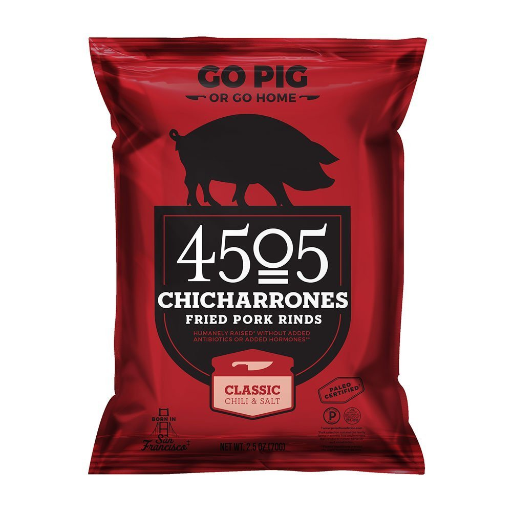 4505 Chicharrones (Fried Pork Rinds) Classic Chili & Salt, 2.5 oz, 12-pack by 4505 Meats (Image #1)