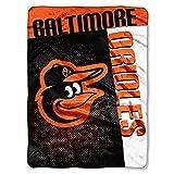 The Northwest Company MLB Baltimore Orioles Strike Raschel Blanket, 60-Inch by 80-Inch