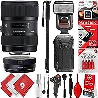 Sigma 18-35mm f/1.8 DC HSM Art Lens for Canon DSLR Cameras + 16GB 20PC Bundle for 80D, 77D, 70D, 60D, 60Da, 50D, 7D, 6D, 5D, 5DS, 1DS, T7i, T7s, T7, T6s, T6i, T6, T5i, T5, SL2 and SL1