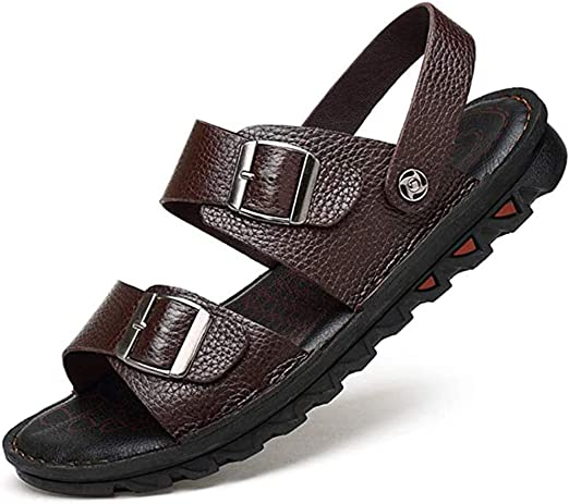 Men Sport Summer Beach Holiday Open Toe Sandals Adjustable Straps Black /& Brown