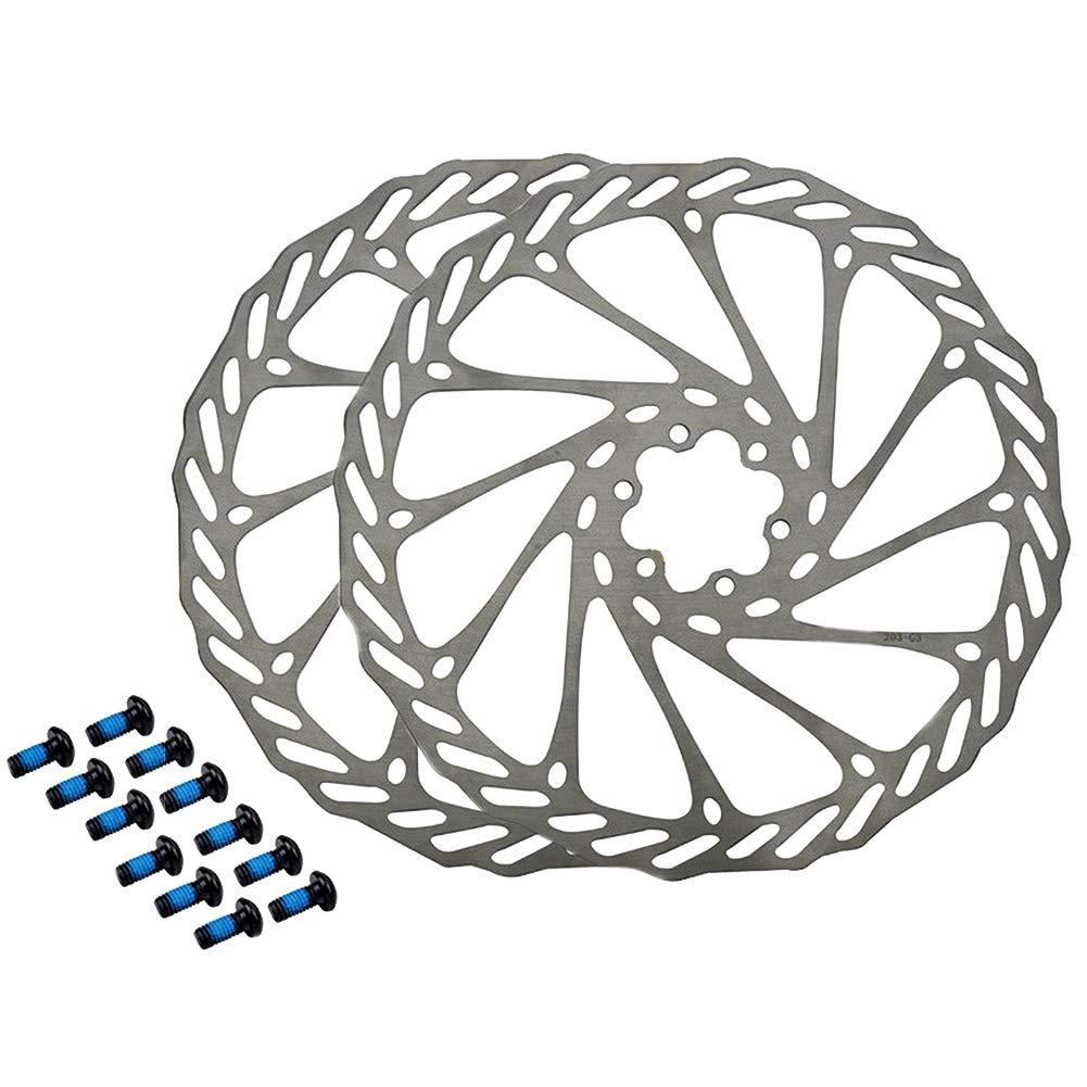 1 Paar 180mm HemeraPhit Mountainbike-Rotoren G3 Fahrradbremsscheibe Edelstahlrotoren mit Schrauben