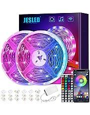Smart Alexa LED Strip Lights, JESLED 10m Wireless WiFi LED Light Strip för sovrum, 44 Keys RF Remote & APP Control, färgbytande RGB LED Strips för TV, hem, kök, Bar dekoration