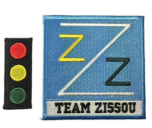Patch Squad Men's Back Life Aquatic Team Zissou Logo Ballcap Costume Patch (Set of two)