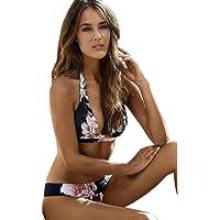 Bañadores Deportivas Mujer, Xinan Bikini De Push-up Traje De Baño Acolchada Triángulo De Baño (XL, Azul)