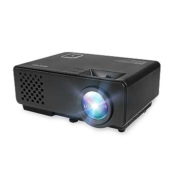 APEMAN Mini Proyector LED Portátil de 1000 Lúmenes para Ver Películas, Cine en CAS y los Videojuegos HD 1080p de Video y HDMI / USB / VGA / AV / ATV ...