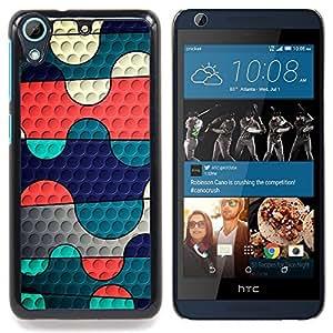 Neon Camo Blocks Caja protectora de pl??stico duro Dise?¡Àado King Case For HTC Desire 626 & 626s