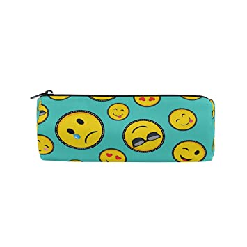 Bennigiry Emoji Smiley - Estuche para lápices, bolsa de ...