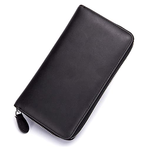 20c5e850dbe6 JOSEKO Card Holder Wallets, Women Men RFID Antimagnetic 36 Card Slots Dull  Polish Genuine Leather 6inch Phone Bag Long Wallet