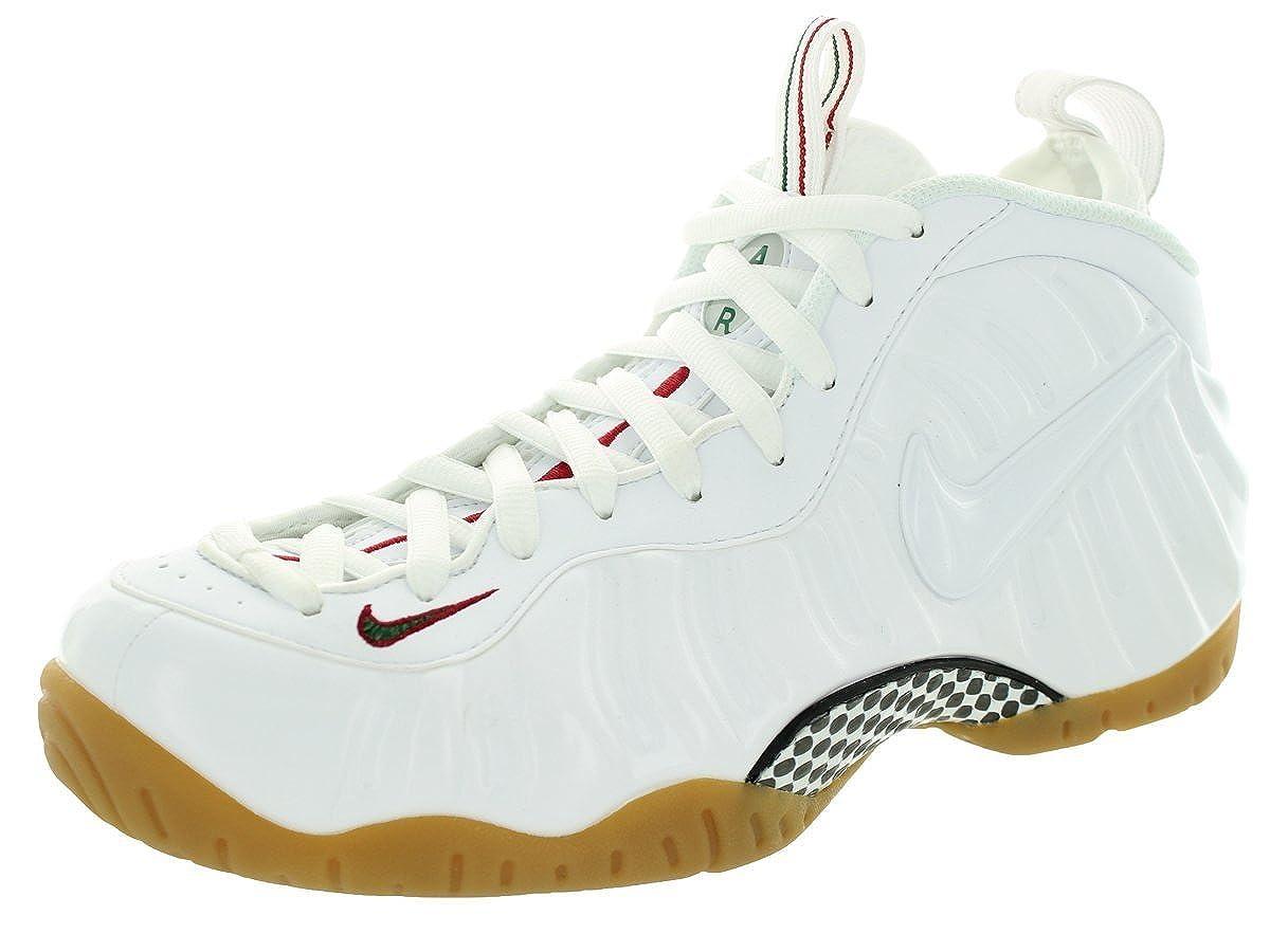 blanco   rojo   verde (blanco   blanco-gym rojo-grg verde-) Nike Air Foamposite Pro, Hauszapatos de Baloncesto para Hombre