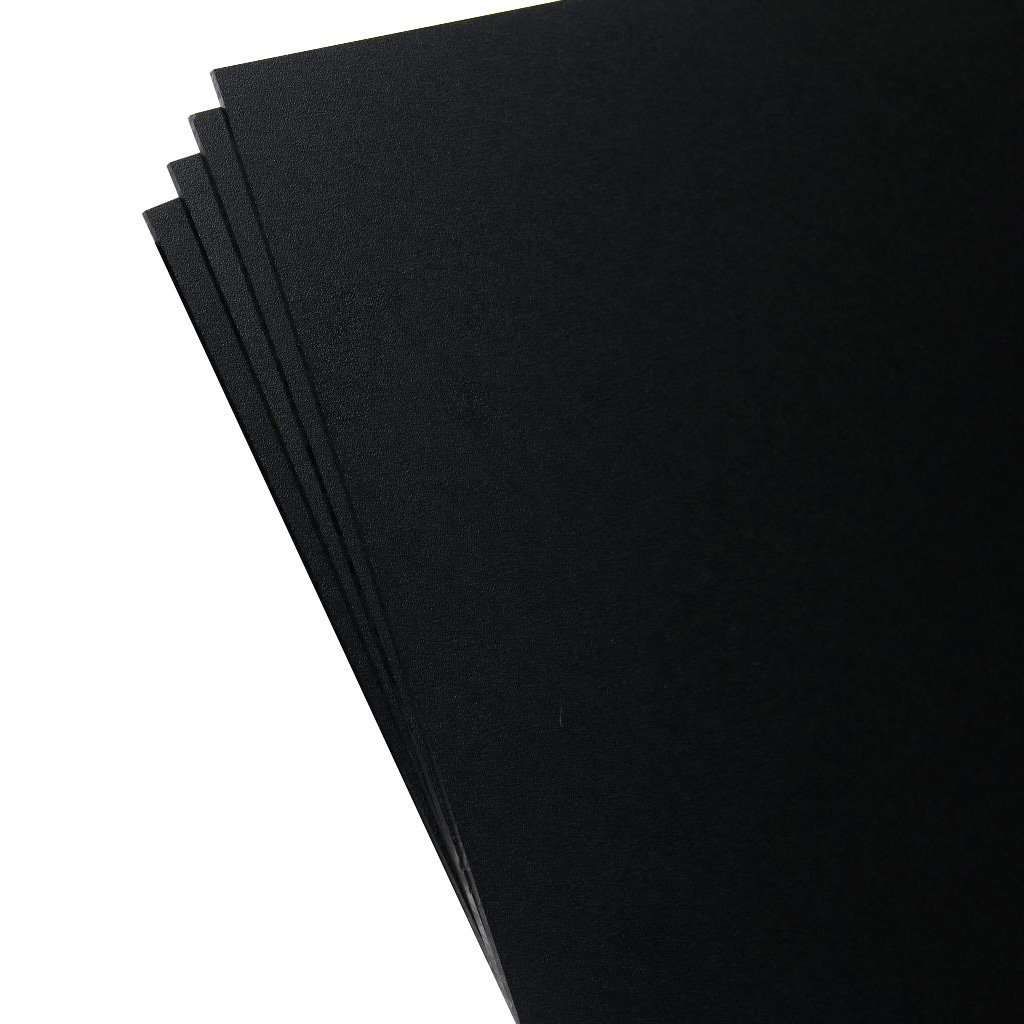 Plastics 2000 - KYDEX Sheet - 0.080'' Thick, Black, 8'' x 12'', 4 PACK