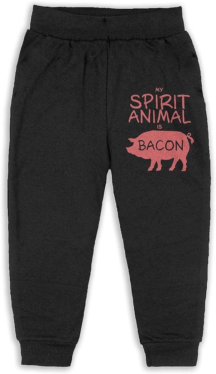 Kids /& Toddler Pants Soft Cozy Baby Sweatpants My Spirit Animal is Bacon Fleece Pants Training Pants