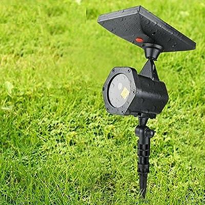 Xmas Waterproof Solar Power LED Laser Projector Light Flash Outdoor Garden Decor