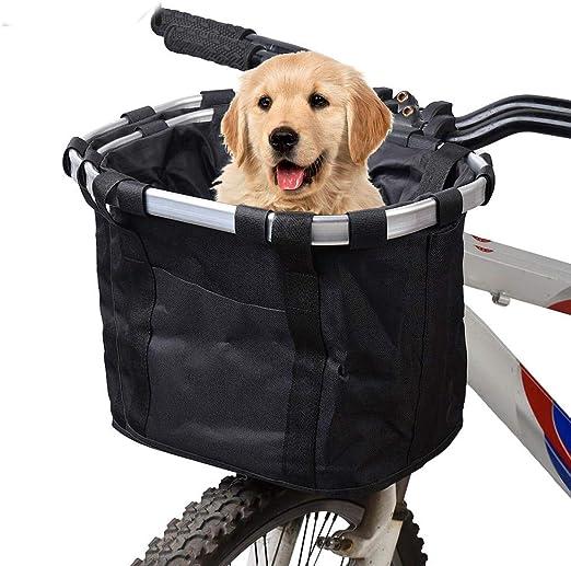 Hamiledyi Cesta de Bicicleta para Perros, Cesta para Perro ...