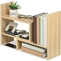 U-HOOME Desktop Storage Organizer Display Shelf Rack, Counter Top Bookcase, Adjustable Desktop Bookshelf,Freestanding…