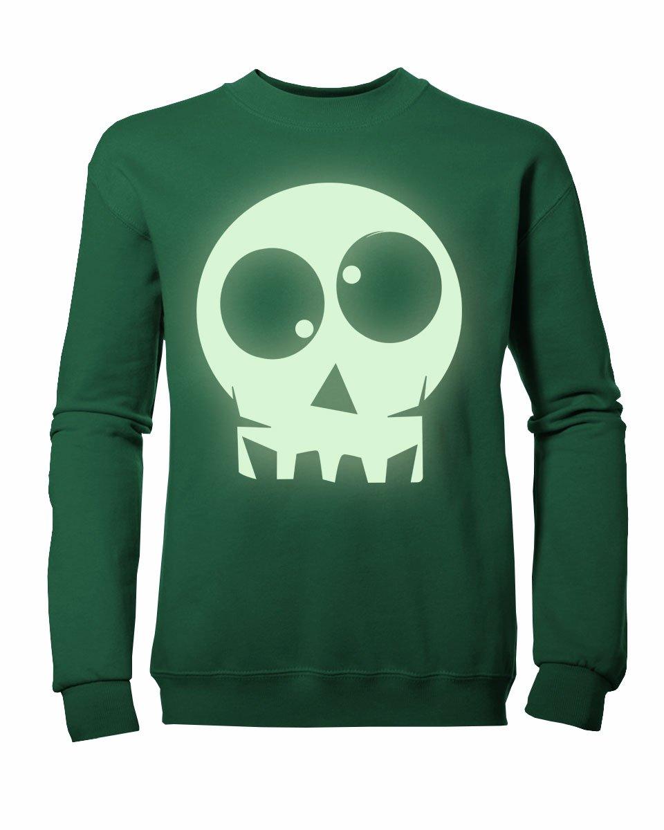 Kids Boys Girls Glow-in-the-Dark Skull Sweatshirt NEW Colours Ages 3-13yrs GLDS-KSS1010