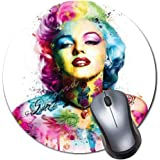 Office /& Home-Marilyn Monroe Ballerina Gaming Computer Mouse Pad with Non-Slip Rubber Base Premium-Textured and Waterproof Mousepad Laptop