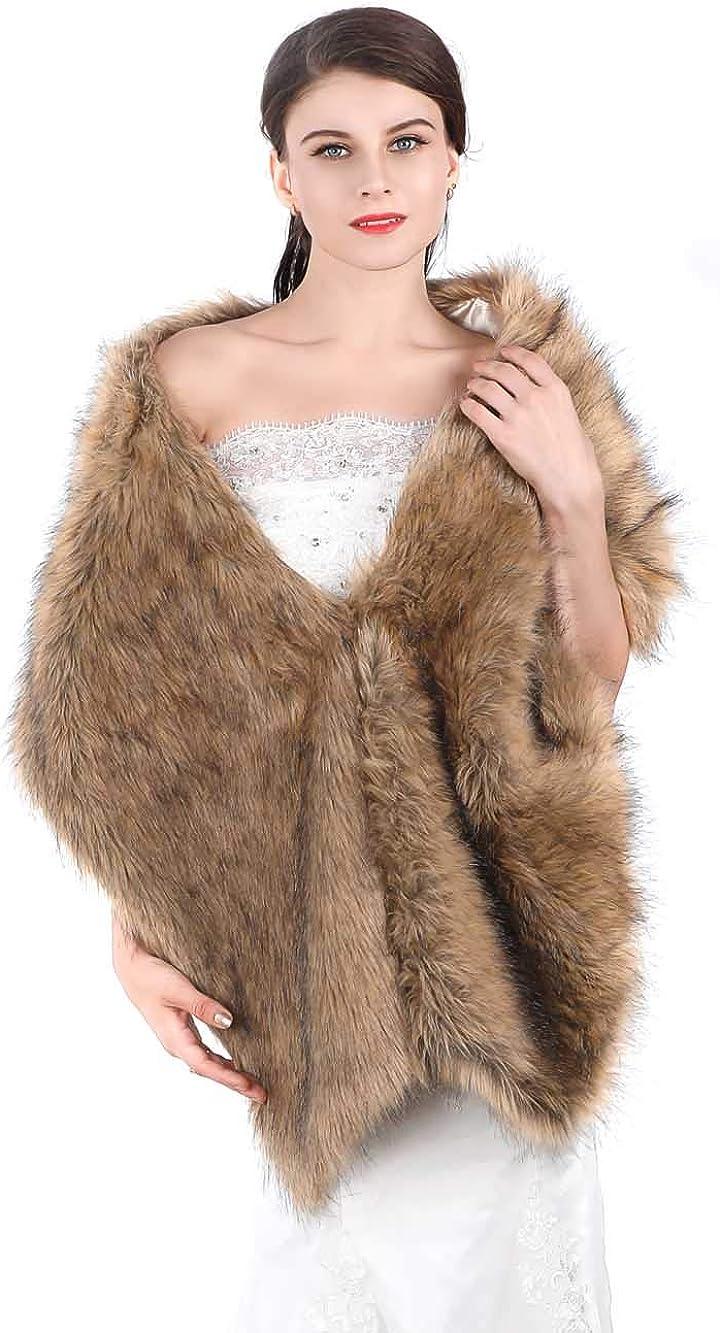 Edary Women's Faux Fox Fur...