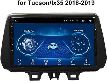 HP CAMP Android 9.1 8 Core Coche Navegación GPS para Hyundai Tucson/IX35 2018-2019, Multimedia Soporte Cámara retrovisora incorporada/CarPlay, Compatible con Bluetooth 5.0 / SWC/GPS,4g WiFi 4g+64g: Amazon.es: Deportes y aire libre