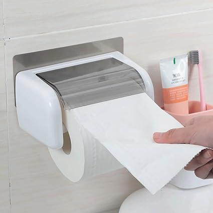 YYF Soporte del papel higiénico Papel higiénico Caja de toallas Bandeja de papel higiénico Bandeja de