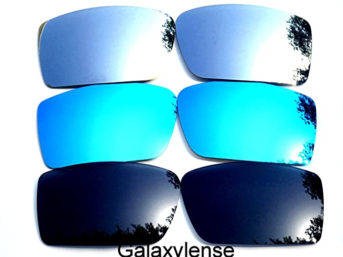 0b29ba0419 Image Unavailable. Image not available for. Color  Galaxy Replacement Lenses  for Oakley Gascan Black Blue Titanium Color Polarized ...