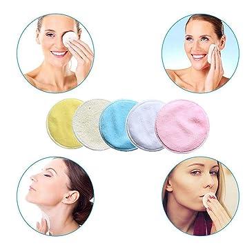 5e23673e8f6f Amazon.com : Face Makeup Remover Pads, Soft Bamboo Fiber Rounds Face ...