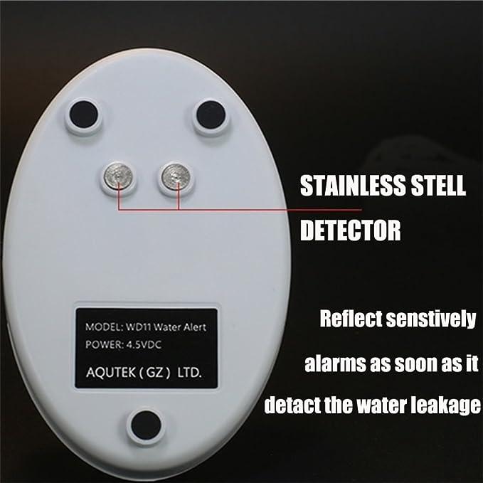 Amazon.com: Detector de fugas de agua, hasta 120 db, 72 ...