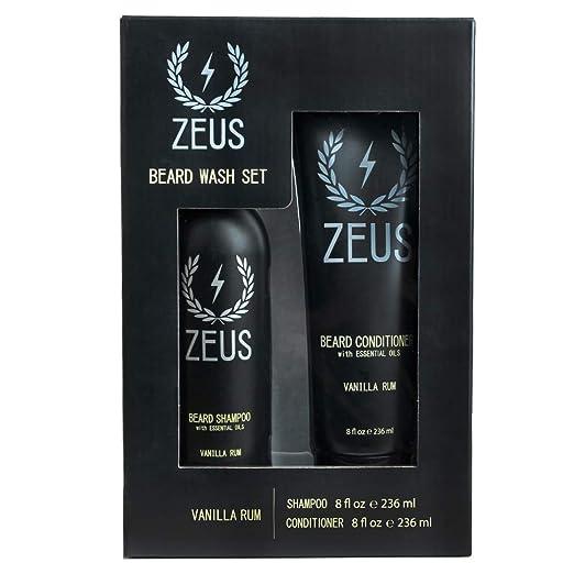 3. ZEUS Beard Shampoo and Conditioner Set for Men - Best Beard Shampoo and Conditioner for Itch Control