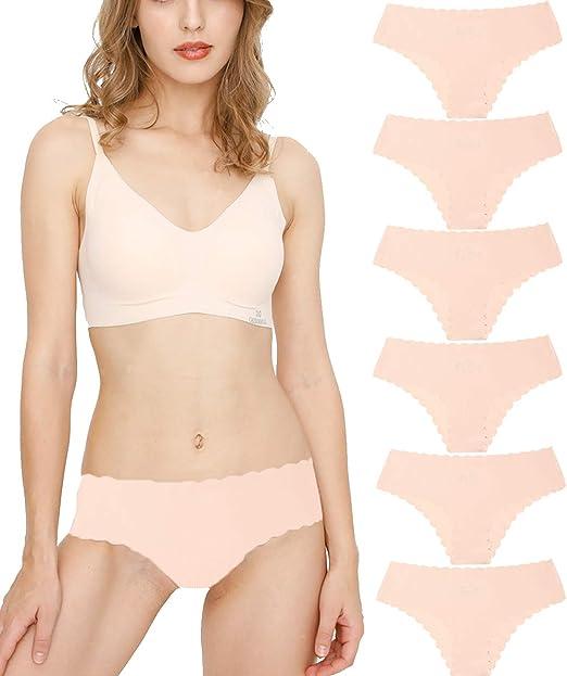 Donpapa Bragas para Mujer Pack sin Costuras Invisible Braguitas Microfibra Rayas Brief Bikini Culotte, Pack de 3/6: Amazon.es: Ropa y accesorios
