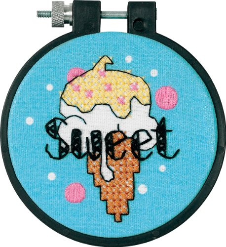 Dimensions Needlecrafts Stamped Cross Stitch, Sweet Ice Cream Stitch Ice Cream