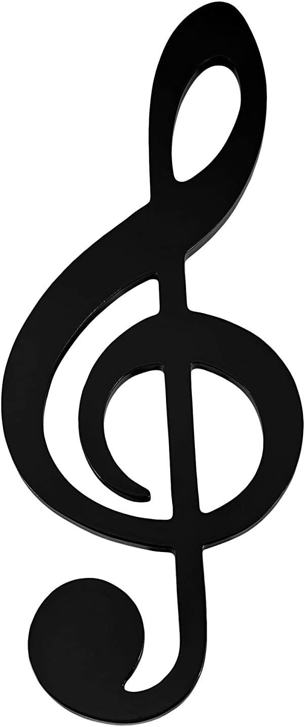 Black Treble Clef Glossy Wooden Wall Decoration