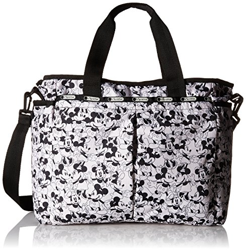 (LeSportsac Women's Ryan Baby Diaper Bag Carry On, Mickey Loves Minnie)