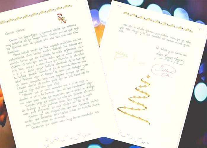 Carta personalizada de los Reyes Magos: Amazon.es: Handmade