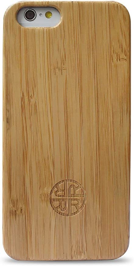 Reveal Case Compatible with iPhone 7/8 and iPhone SE 2020 Version - Zen Garden Bamboo Case Eco-Friendly Bamboo Wood Design (Bamboo)