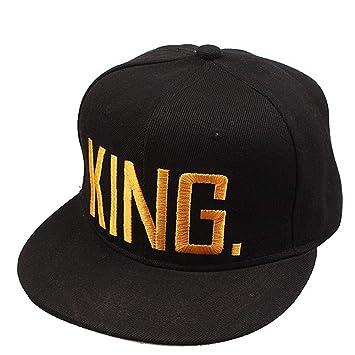 Househome Hat, The King/Queen Letter Printing Pareja Hat Gorra Gorra de béisbol Protección Solar Sun Sombrero de Tres Colores: Amazon.es: Hogar