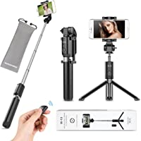 VANZAVANZU Selfie Stick with Tripod and Detachable Wireless Remote for iPhone x xr xs max 6 6s 7 8 Plus Samsung Phone…