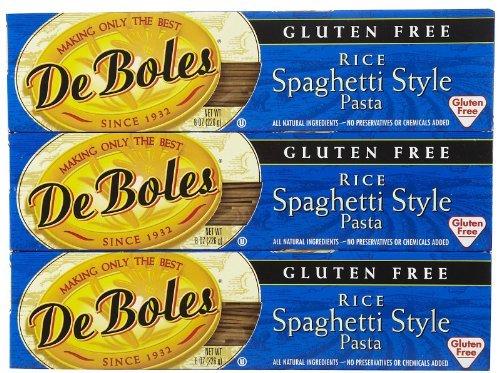 De Boles Gluten-Free Rice Spaghetti Pasta, 8 oz, 3 pk Deboles Gluten Free Rice