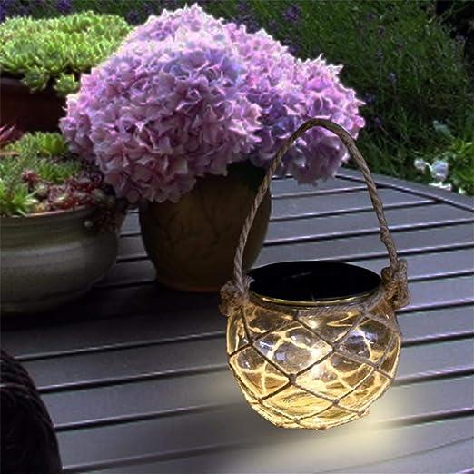 Ablerfly Luces De Jardín Solares, Lámpara Colgante Solar \ Linterna De Batería \ Luces De Jardín Colgantes LED \