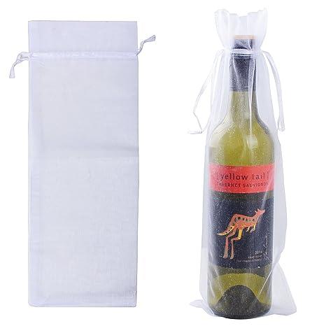 BUONDAC 20pcs Bolsas de Organza Botella de Vino Bolsas ...