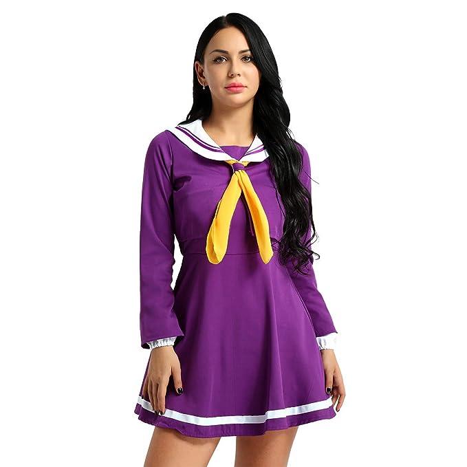 Amazon.com: CHICTRY - Traje de marinero para mujer, disfraz ...