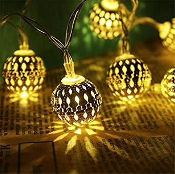 L&T STAR Nordic Wind Christmas Gift 10 Light Iron Battery Light Night Light Hotel Lobby, Pasillo, Sala De Exposiciones, HabitacióN De Hotel, Home Place 3.3M20 Lamp , A