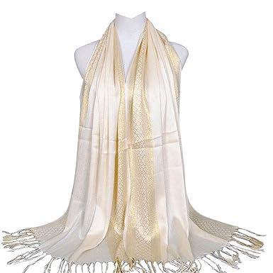Foulard femme, Voile pour femme long, Châle Fashion. Foulard pour femme  tendance Beige 45ba6ff840f