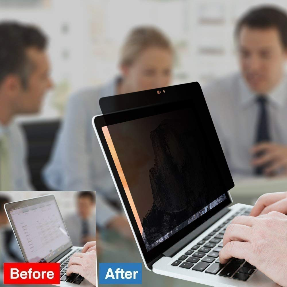 Easy On//Off Magnetic Privacy Screen Filter 13-inch MacBook Pro Late 2016 Including Touch Bar Anti Glare by GeckoCare Innovative Webcam Cover for MacBook Pro 13 inch Touch Bar//Non-Touch Bar
